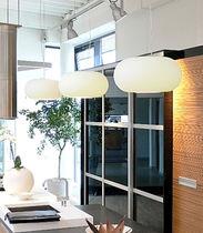 Hängelampe / modern / Glas / geblasenes Glas