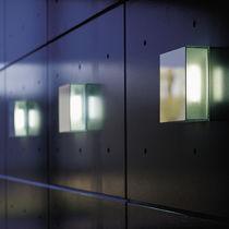Moderne Wandleuchte / Glas / fluoreszierend / rechteckig