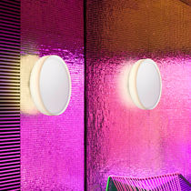 Moderne Wandleuchte / Glas / LED / fluoreszierend