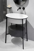 Doppelter Waschtischunterschrank / freistehend / Holz / Keramik ... | {Waschtischunterschrank freistehend 95}