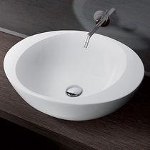 Aufsatzwaschbecken / rund / aus Keramik / modern