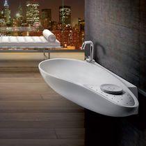 Wand-Waschbecken / oval / aus Keramik / originelles Design