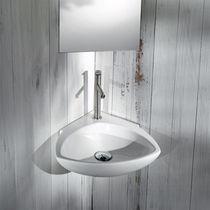 Wand-Waschbecken / Eck / aus Keramik / modern