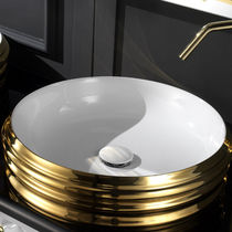 Aufsatzwaschbecken / rund / aus Keramik / originelles Design