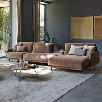 Modulierbares Sofa / modern / Leder / Stoff