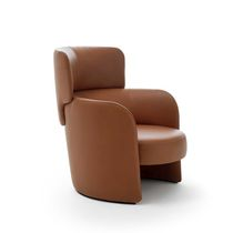 Moderner Sessel / Leder / Bergère -Stil