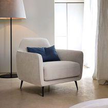 Moderner Sessel / Stoff / Leder / Kunstleder
