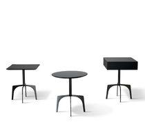 Moderner Beistelltisch / Holz / Metall / rund
