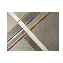Moderner Teppich / mit geometrischem Muster / rechteckig