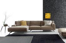 Modulierbares Sofa / Eck / modern / Leder