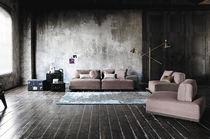 Modulierbares Sofa / modern / Leder / Kunstleder