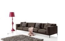 Modernes Sofa / Leder / Kunstleder / aus Aluminiumguss