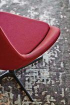 Drehbarer Sessel / modern / Metall / Stoff