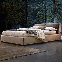 Standardbett / doppelt / minimalistisch / Leder