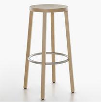Moderner Barhocker / Esche / lackiertes Holz / gebeiztes Holz