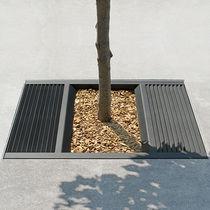 Baumgitter aus Stahl / quadratisch