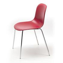 Besucherstuhl / Skandinavisches Design / mit Armlehnen / Polster / Stapel