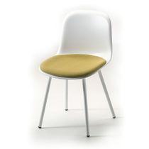 Restaurantstuhl / Skandinavisches Design / Bistro / aus lackiertem Stahl / aus Polypropylen