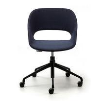 Moderner Bürostuhl / Polster / mit Rollen / sternförmiger Fuß