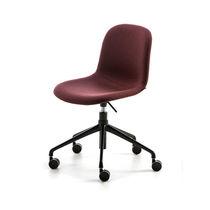 Moderner Stuhl / mit Rollen / verstellbar / aus lackiertem Stahl
