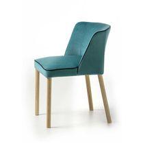 Moderner Stuhl / Polster / Stoff / Esche