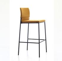 Moderner Barstuhl / Polster / mit Fußstütze / Stoff