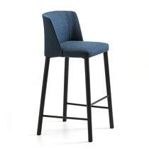 Moderner Barhocker / Esche / Stoff / Contract
