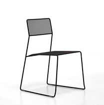 Moderner Stuhl / Stapel / Kufen / Netz