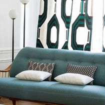 Möbelstoff / für Gardinen / mit geometrischem Muster / Baumwolle