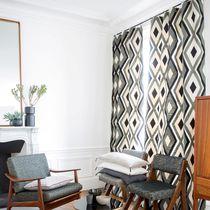 Stoff für Gardinen / mit geometrischem Muster / Leinen / Polyester