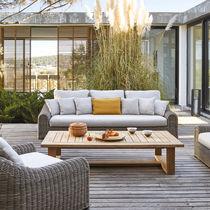 Stil-Sofa / für Außenbereich / Gewebe / aus geflochtenem Harz