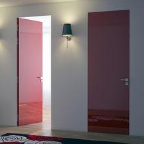 Bündige Tür / Innenbereich / einflügelig / Metall