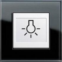 Drucktaster-Schalter / Thermoplast / modern / mit Aufdruck