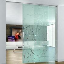 Innenbereich-Tür / zum Schieben / Glas / raumhohe
