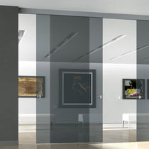 Innenbereich-Tür / zum Schieben / Glas / doppelt
