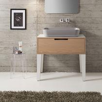 Aufsatzwaschbecken / rechteckig / Keramik / modern