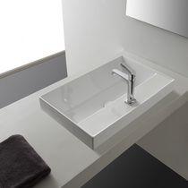 Einbauwaschbecken / rechteckig / modern