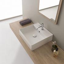 Aufsatzwaschbecken / quadratisch / modern