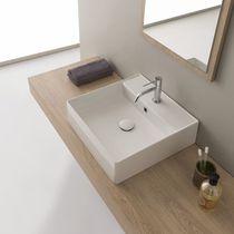 Aufsatzwaschbecken / rechteckig / modern