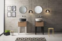 Freistehender Waschtischunterschrank / Holz / modern / Schubladen