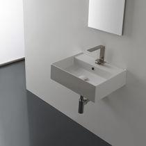 Wand-Waschbecken / rechteckig / modern