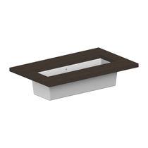 Einbauwaschbecken / rechteckig / Keramik / modern