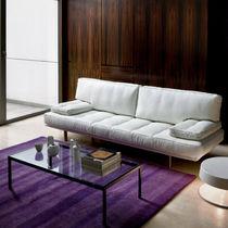 Modernes Sofa / Stoff / Leder / Stahl