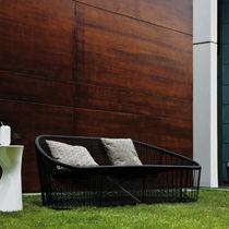 Modernes Sofa / für Außenbereich / Stahl / aus PVC