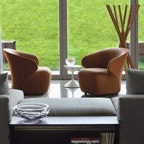 Moderner Sessel / Stoff / Leder / Nylon