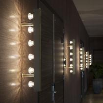 Moderne Wandleuchte / aus anodisiertem Aluminium / LED / linear