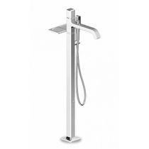 Einhebelmischer für die Dusche / für Badewanne / Bodenmontage / aus Messing