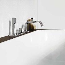 Einhebelmischer für Badewanne / verchromtes Metall / aus Messing / für Badezimmer
