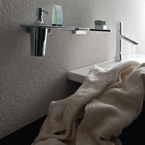 Wandmontage-Seifenspender / aus Chrom / aus Messing / zur beruflichen Nutzung