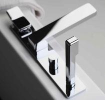 Einhebelmischer für Badewanne / für Theken / aus Nickel / aus Chrom